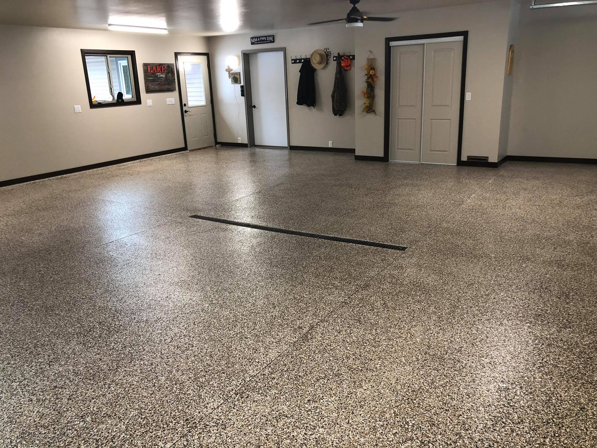 Epoxy Concrete Floor Painting Free Estimate - All Surface Painting Wisconsin